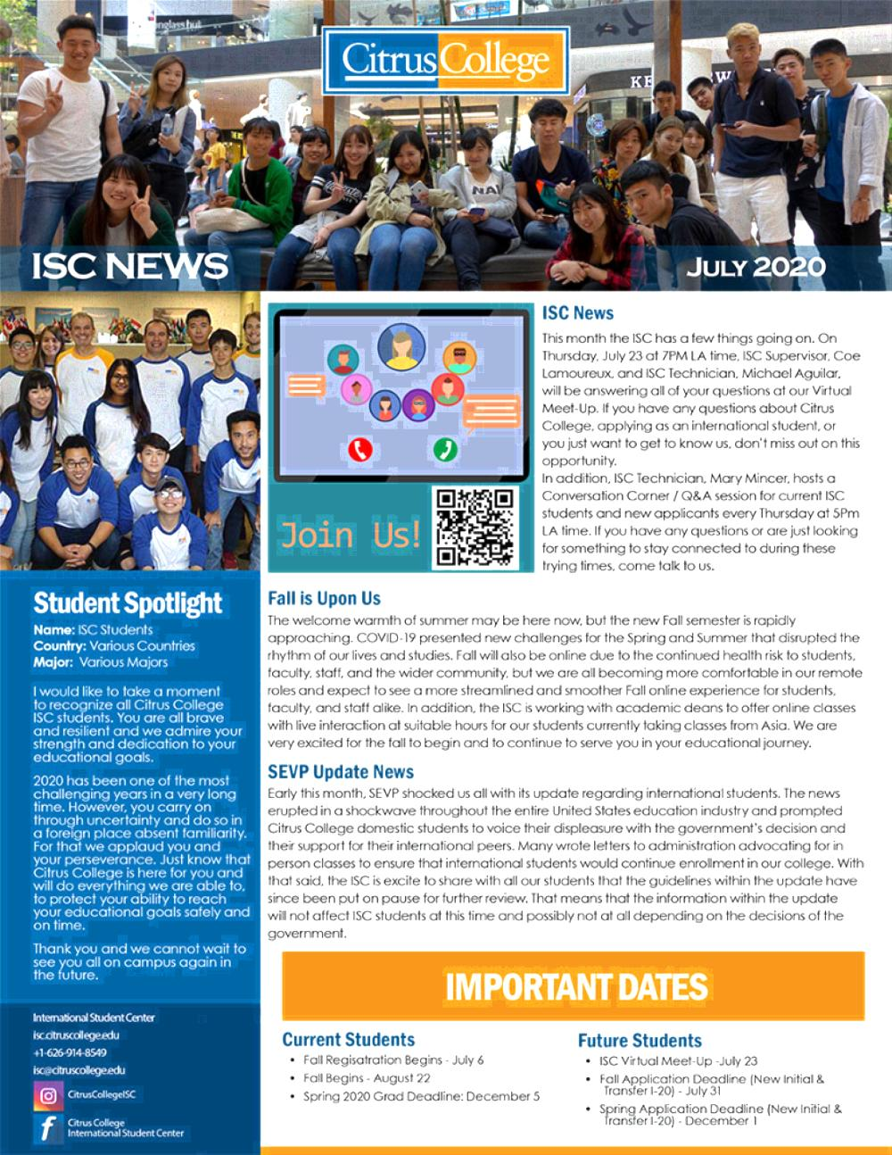 ISC News July 2020